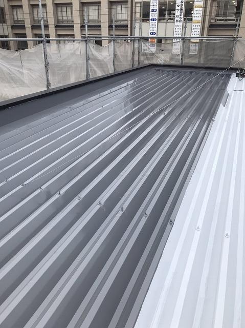 折板屋根中塗り (5)