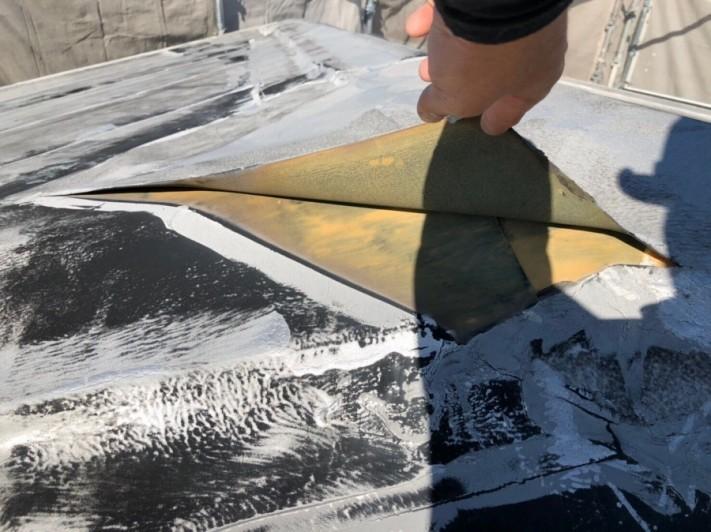 米原市のアパート屋根防水現場調査②