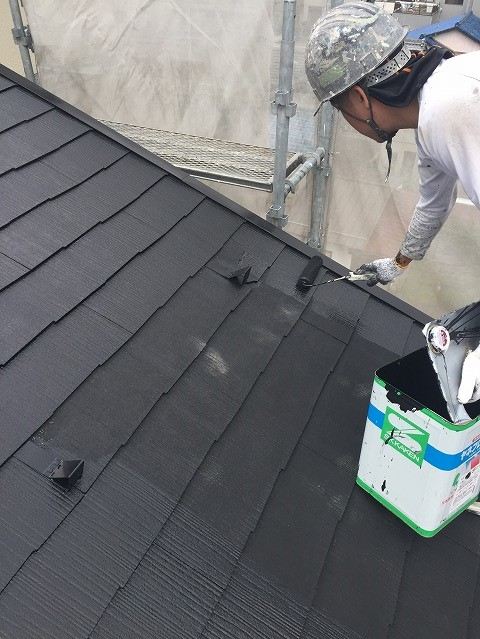 彦根市M様邸 屋根上塗り写真
