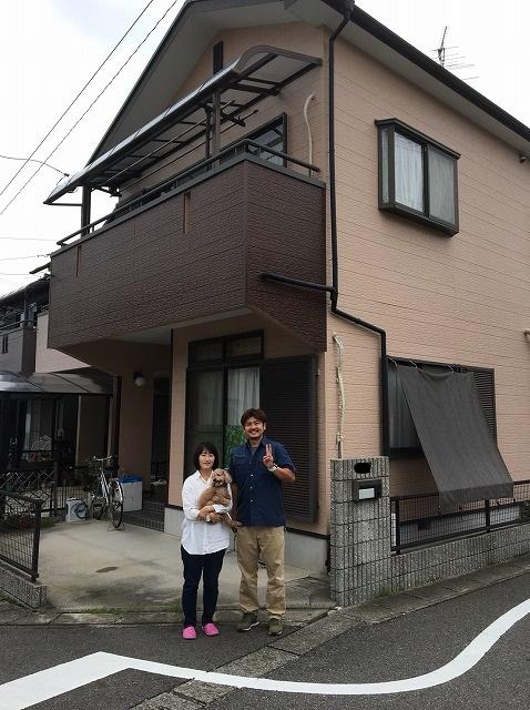 彦根市にて台風被害による屋根瓦工事を行ったS様の喜びのお声