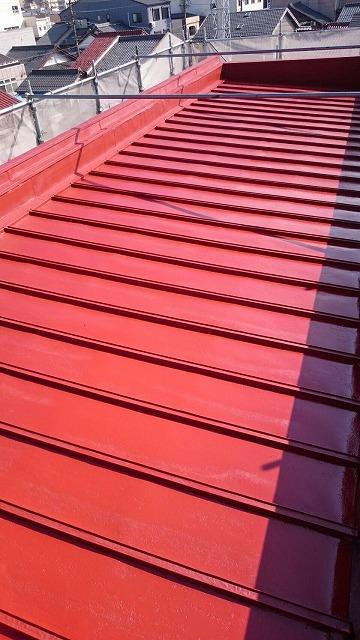屋根下塗り2