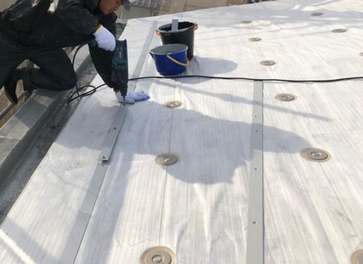 米原市のアパートの屋根防水下地写真④