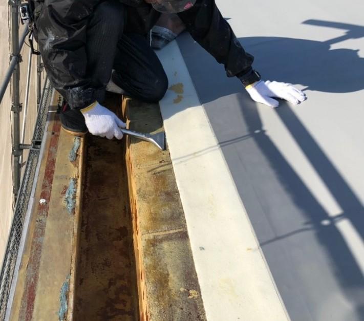 米原市のアパートの屋根防水工事写真③