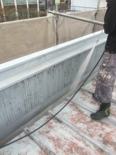 瓦棒屋根高圧洗浄2