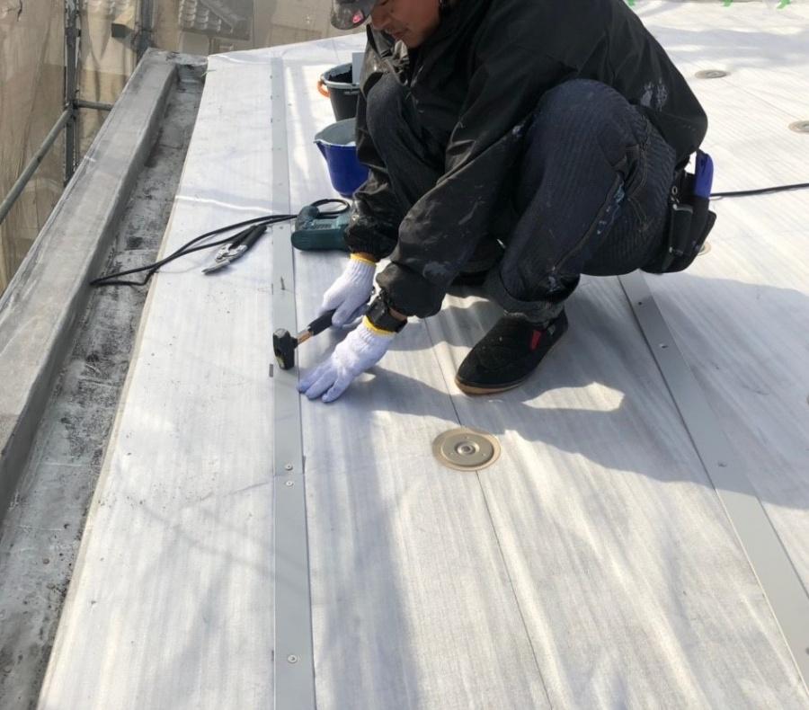 米原市のアパートの屋根防水下地写真⑤