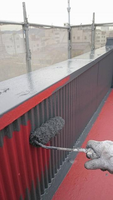 瓦棒屋根中塗り2