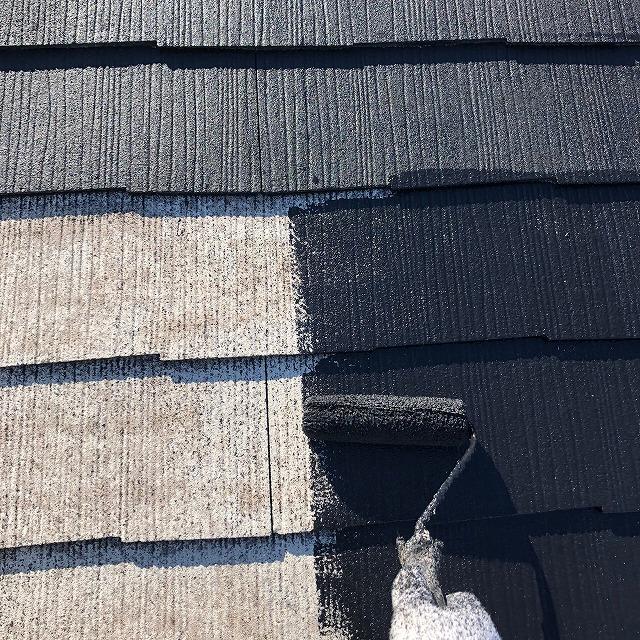 彦根市M様邸 屋根中塗り写真