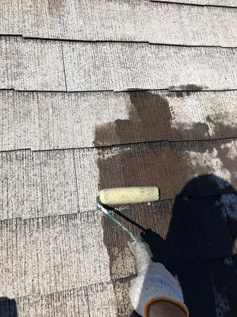 彦根市M様邸 屋根下塗り写真