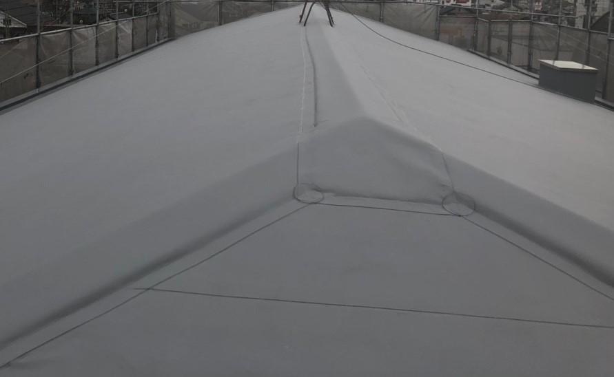 米原市のアパートの屋根防水塩ビシート写真⑤