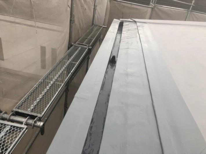 米原市アパート屋根防水先端部分ウレタン防水⑤