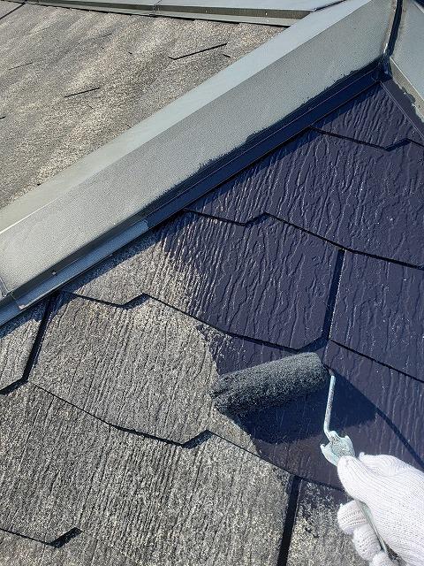 屋根中塗り1