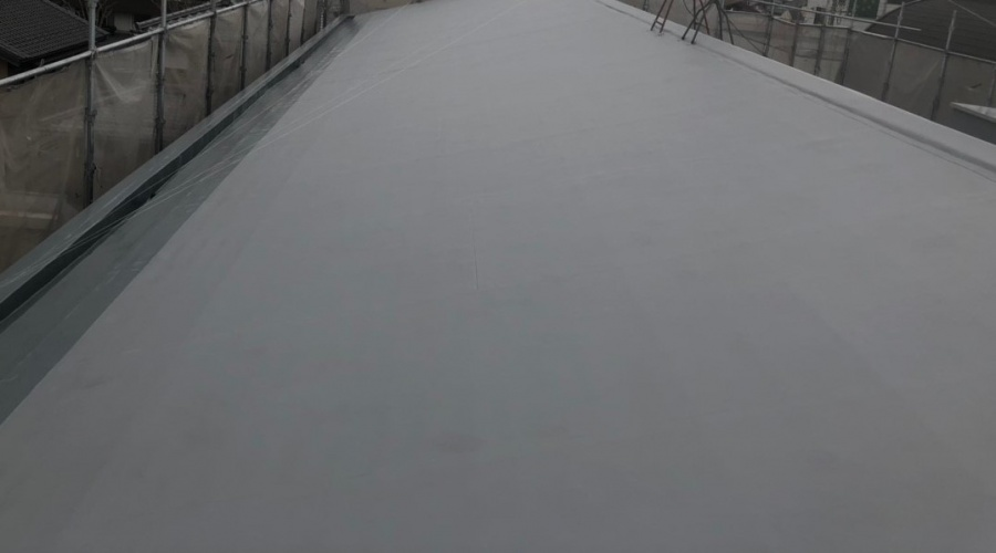 米原市アパート屋根防水工事完成